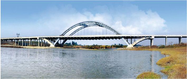 公司修建的温江金马河特大桥